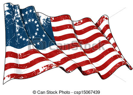 Civil War clipart us flag Star 37 War Drawings Illustration