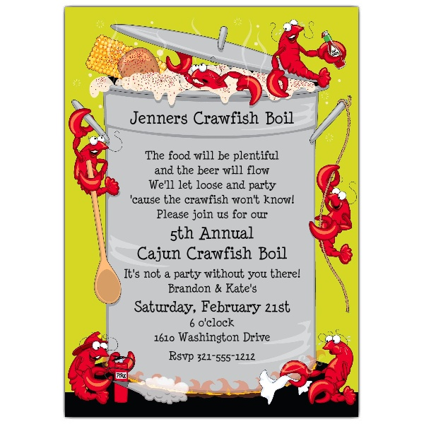 Crawfish clipart Boil Clipart Invitations cliparts Crawfish