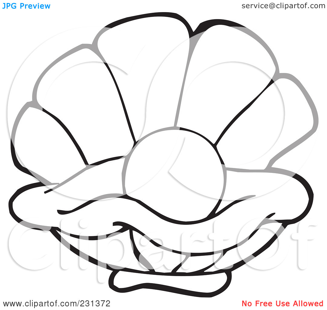 Shell clipart yellow Oysters Oyster Clipart cliparts Outline