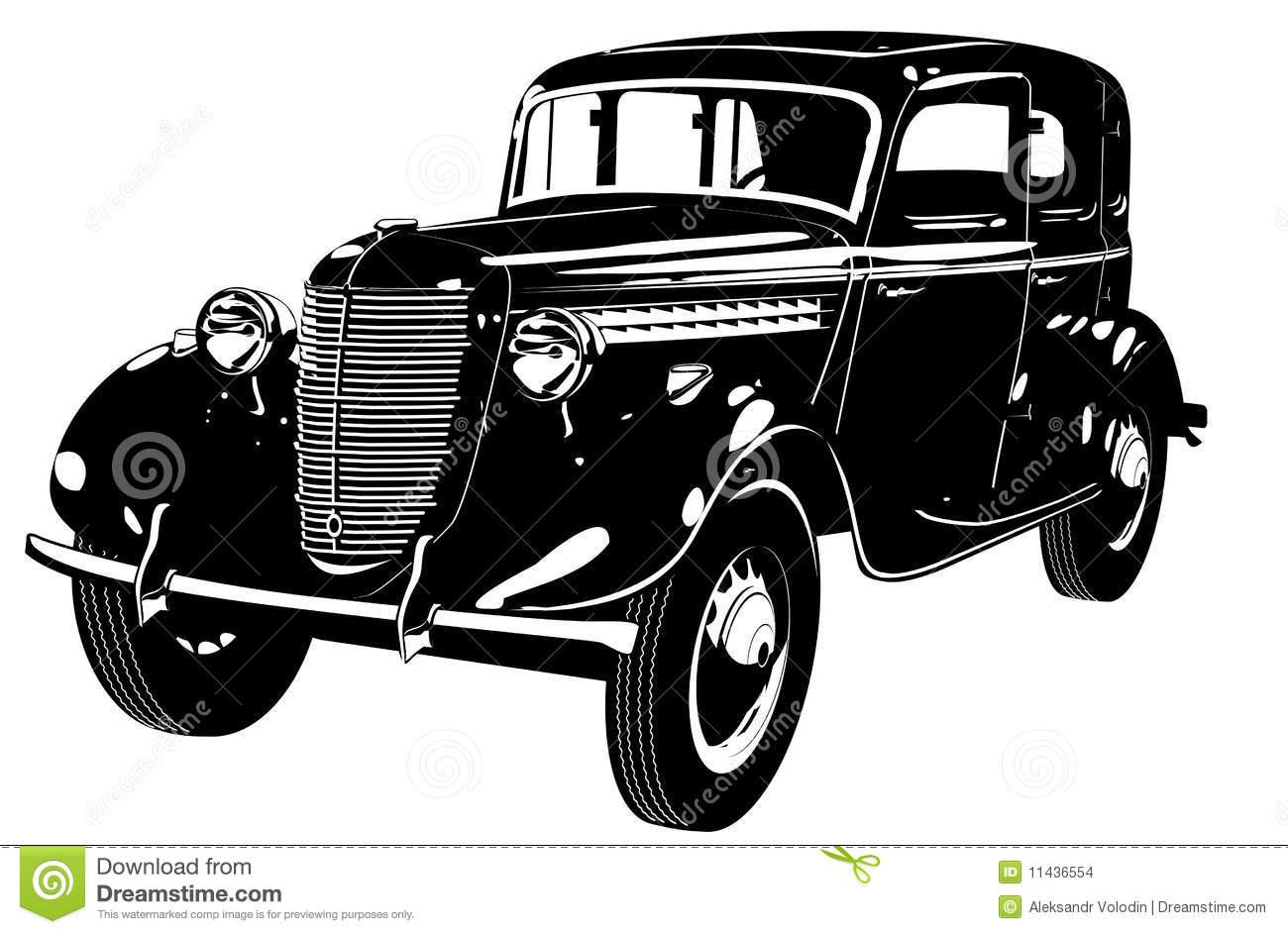 Classic Car clipart illustration a Classic  Clipart Silhouette Car