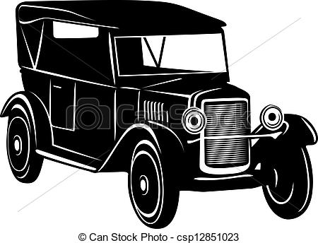 Classics clipart appetizer Vintage  car Retro Illustration
