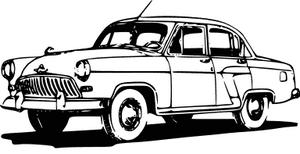 Classic Car clipart blue Clipart Classic Car