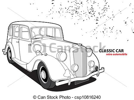 Classic Car clipart background 312 white  Clipart and