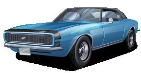 Classic Car clipart blue Car classic convertible E1RdM1L02_img9 png