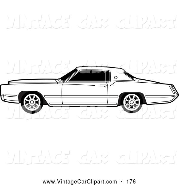 Classic Car clipart cadillac Vintage Black Clipart a Lal
