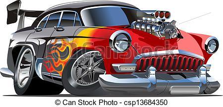 Classic Car clipart cartoon Hot  retro Cartoon Cartoon
