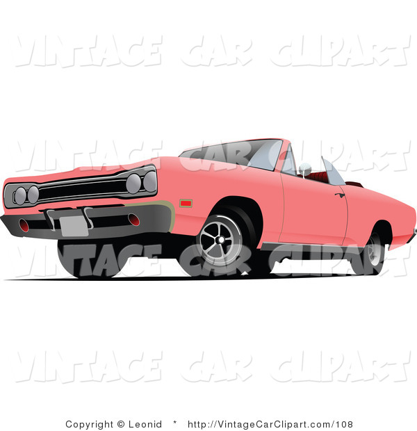 Classic Car clipart convertible  Classic White Convertible on