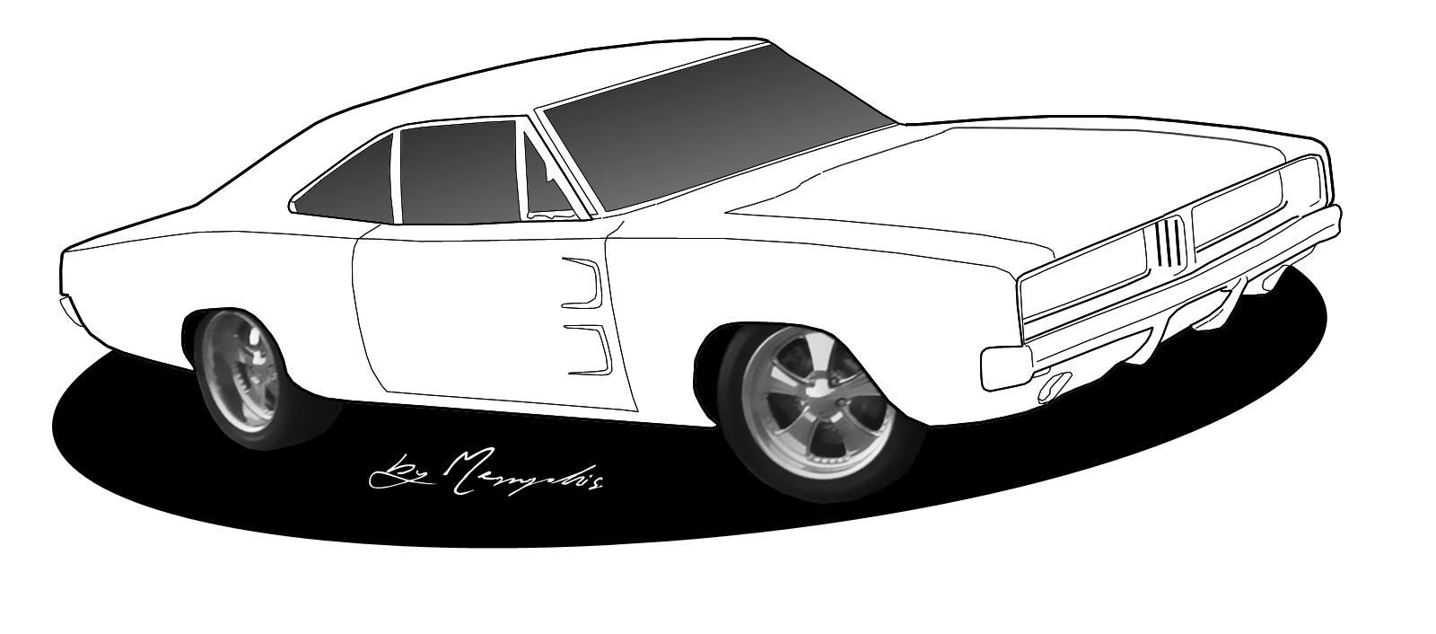 Classic clipart classic muscle car Car clipart car Muscle clipart