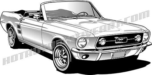 Classic Car clipart first Free two Ford Convertible Mustang