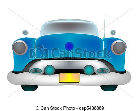 Classic Car clipart front view Of background classic front EPS