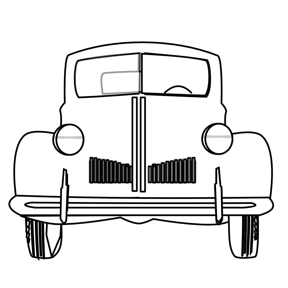 Classic Car clipart front view Clipart Bw Classic of Categories