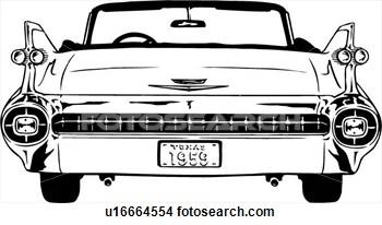 Classic Car clipart front view Clipart art car classic clip