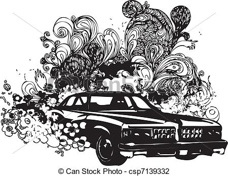 Classic Car clipart line art And classic  Illustration illustration