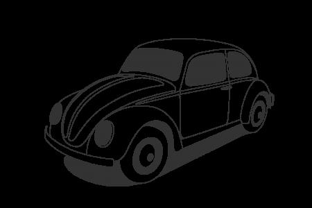 Classic Car clipart line art Beetle Black And White Art