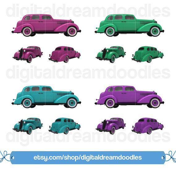Classic Car clipart modern car Best  Classic Sedan Car