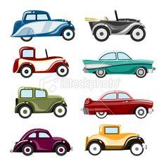 Classic Car clipart modern car Vector Stock Car Royalty Illustration