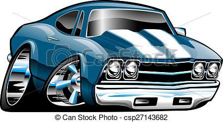 Classic Car clipart modern car Cartoon csp27143682 American Car Classic