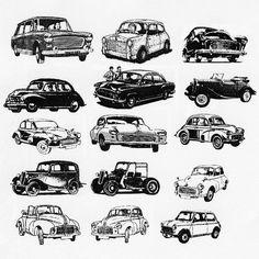 Classic Car clipart modern car Car tattoo car Vintage tattoos