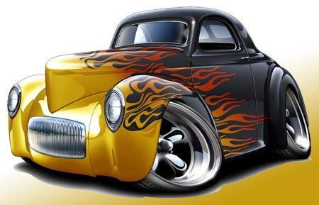 Classic Car clipart muscle car  toon Muscle Details 1941