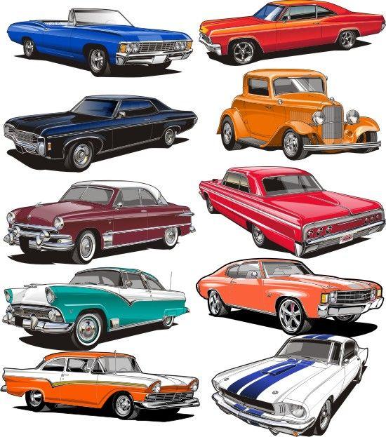 Classic Car clipart muscle car