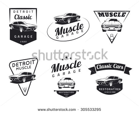 Classic Car clipart muscle car Set collection club Classic Car
