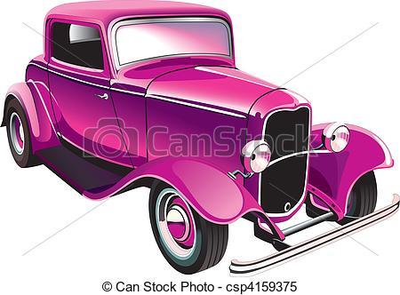Classic Car clipart muscle car Vector car vintage vintage car