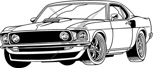 Classic clipart classic muscle car Car car cool Muscle clipart
