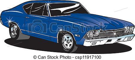 Classic Car clipart muscle car Muscle Muscle Car Car Vector