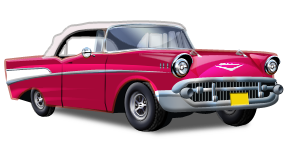 Classic clipart 50's BY GreenFields CADILLAC CAR CLASSIC