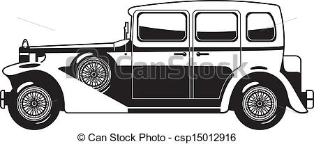 Classic Car clipart old fashioned car Art Vintage and  illustration