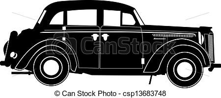 Classical clipart old fashioned car Vector EPS Available vintage silhouette