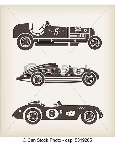 Classic Car clipart old fashioned car Csp15319265 Vector racing Clip Vector