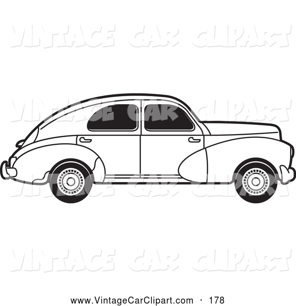 Classic Car clipart old fashioned car Of of Peugeot Fashioned Black