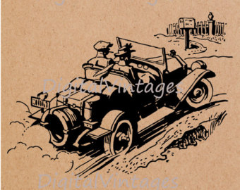 Classic Car clipart old style Antique Graphic Transfers Car Art