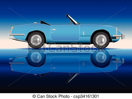 Classic Car clipart old style Vector Sports classic Sports A