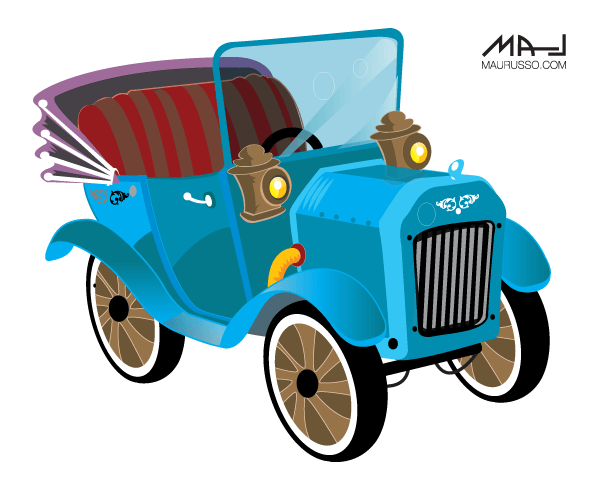 Classic Car clipart old thing Collections Art car Vintage Vector