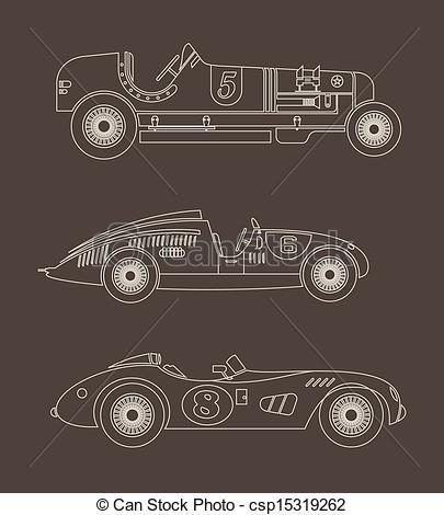 Classic Car clipart racing car Art sport racing Vector vintage