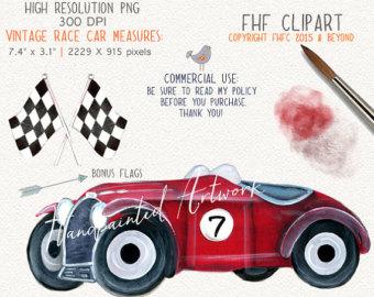 Classic Car clipart racing car Digital Personal Clip painted Race