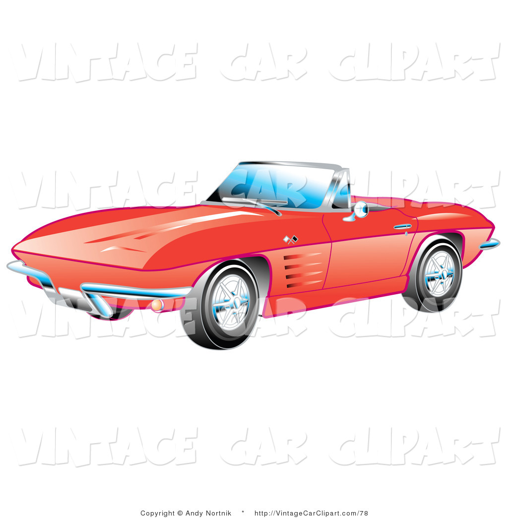 Classic Car clipart red classic  Car of Stock Designs