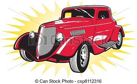 Classic Car clipart red classic Classic Clip Vector Vintage Rod