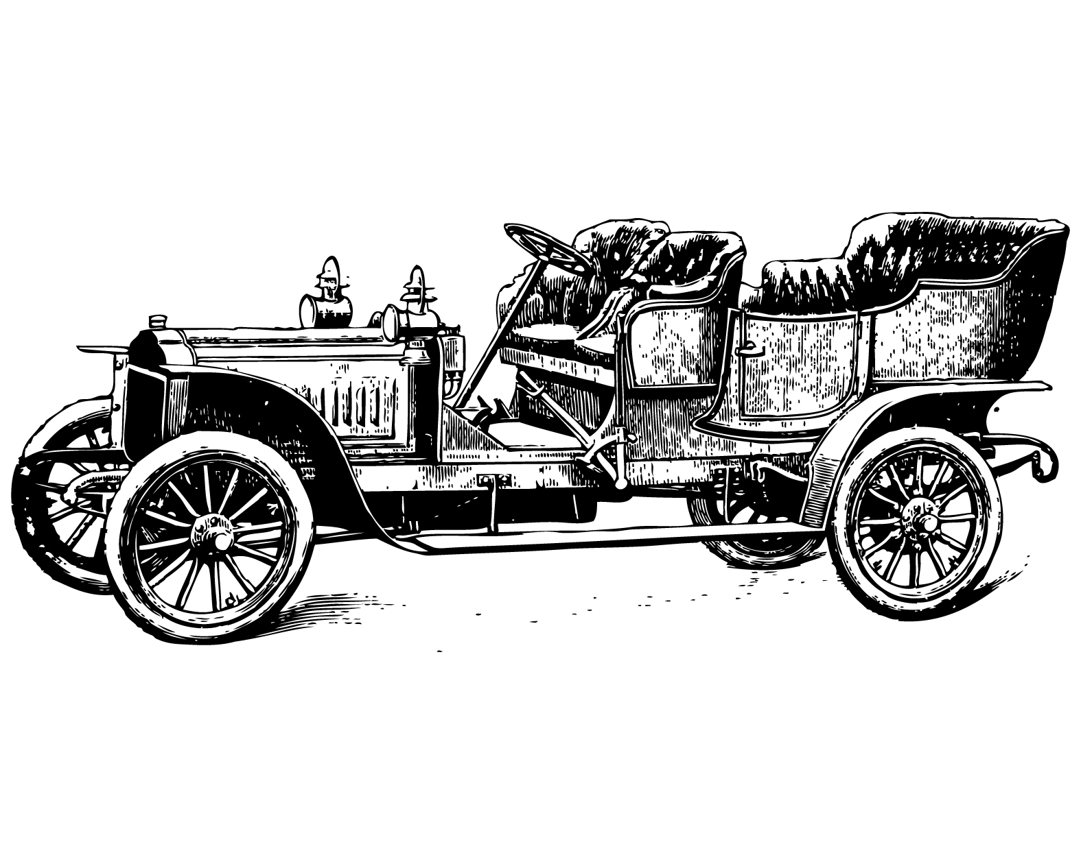 Classical clipart old fashioned car Art clip coaches car vintage
