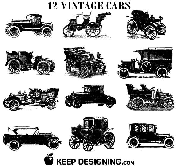 Classic Car clipart vector art  Vectors 015 Free DIY