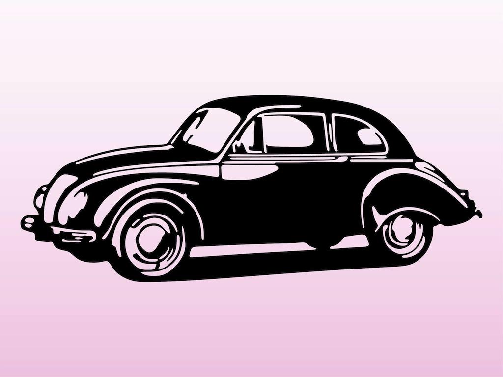 Classic Car clipart vector art Art Download Car Clip
