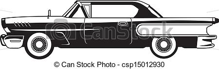 Classic Car clipart vector art And Classic white  Classic