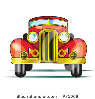 Classic Car clipart vintag Lal by Illustration Perera Royalty