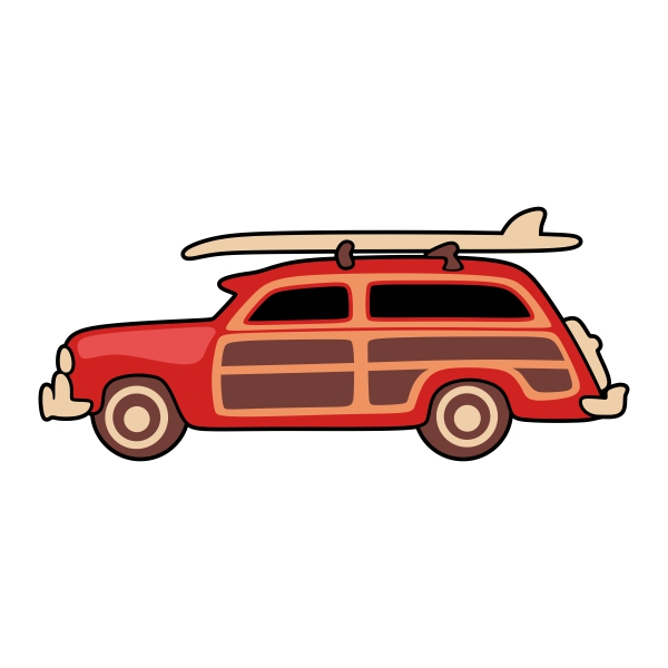 Classic Car clipart woody Car Woody Design File Download