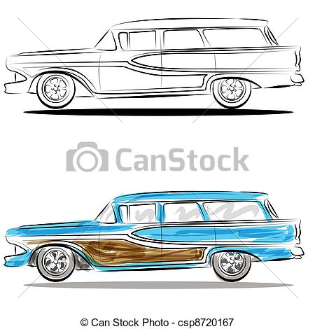 Classic Car clipart woody Station clipart Woody wagon station