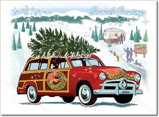 Classic Car clipart woody Visiting Visiting Tree Farm Car