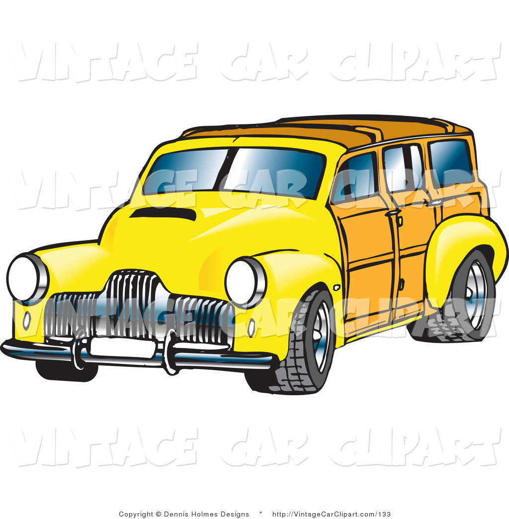Classic Car clipart woody Yellow Vintage Vintage Forward Facing