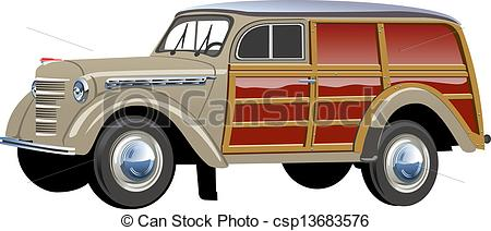 Classic Car clipart woody Retro Stock clip 8 Woody